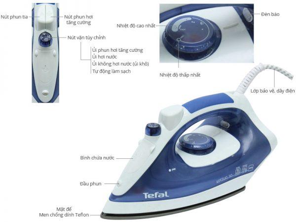 tefal  fv1320 1 600x450 - Bàn ủi hơi nước Tefal FV1320 sản xuất Indonesia